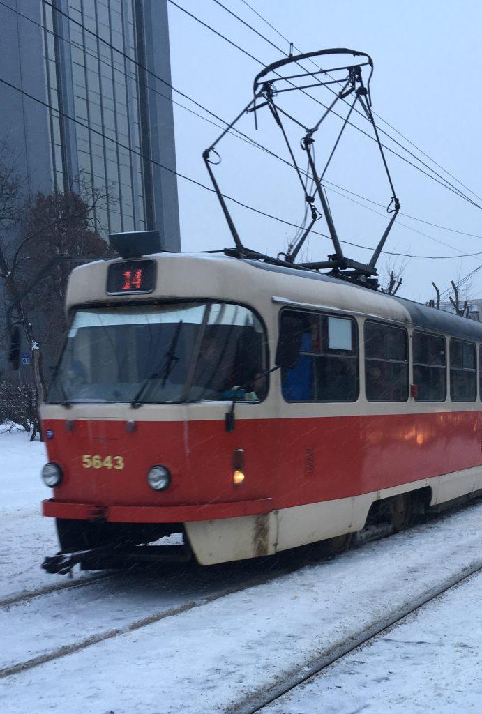 tram in Kyiv