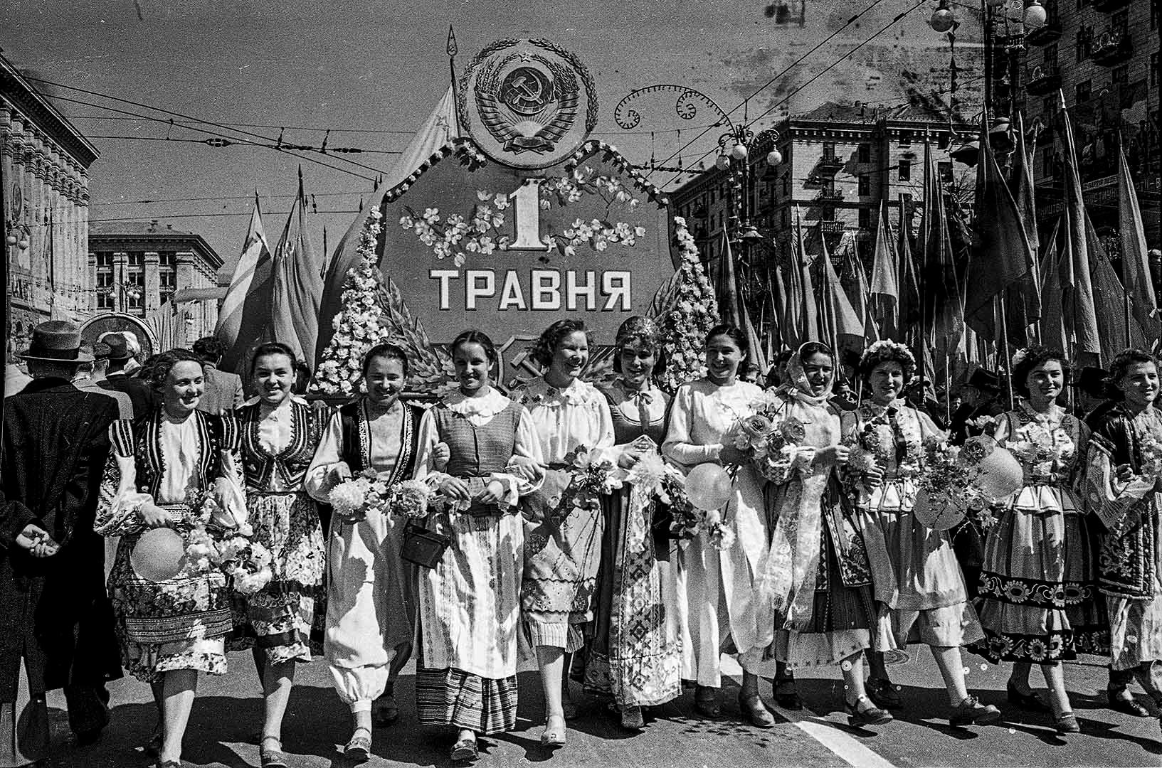 1958, Celebration of the Labour Day by Iryna Pap - SEE KYIV