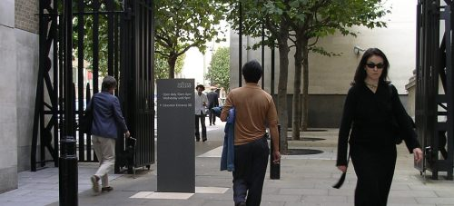Sainsbury Wing Piazza in London