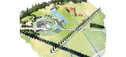 Green Amphitheatre, Parco Franco Verga, Milan by Diana Armstrong Bell, 1997