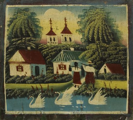 "Oleksandr Shabatura ""Landscape"", Poltava, 1920s, private collection"